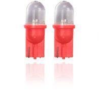 Rød Glassokkelpære 10mm
