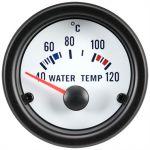 Vandtemperaturmåler, White Performance, 40-120°C, Med hvid lys, 12V (Ø52mm) - 1stk.