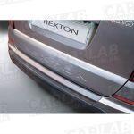 Beskyttelseskant til bagkofanger, sort (ABS plastik), SsangYong Rexton W (13-)