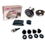 ParkSafe, All-in-One Multi-Angle, Bakalarm med 4 stk. sensorer, Med buzzer, Sort (12-24V) - 1 Sæt