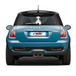 Simoni Racing Sticker 'Funny Wiper Dog Pongo' - White - 23x31,5cm