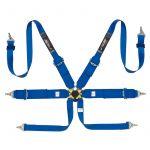 Simoni Racing Seat Belt 6-Point/3-Inch Blue + Quick Release/FIA/E-mark/Hans Neck belt