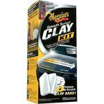 Meguiars Smooth Surface Clay Kit (3x60g Clay/473ml Quik Detailer/1 Supreme Shine Cloth)