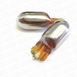 Krompære, 2stk - T10/W5W 5w 12V - krom/orange